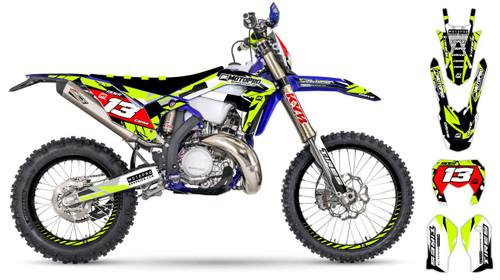 MotoPro Graphics Sherco Dirt Bike BLACKFISH Series Graphics