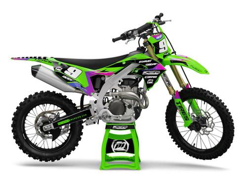 MotoPro Graphics Kawasaki Dirt Bike SIENNA Series Graphics