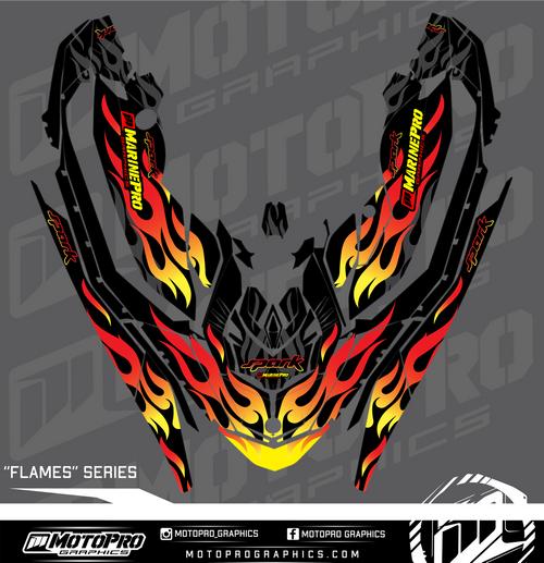 MotoPro Graphics Sea-Doo Spark Graphic Set - Flames Series