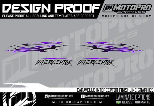 MotoPro Graphics Caravelle Interceptor Tribal Graphics - Purple