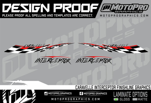 MotoPro Graphics Caravelle Interceptor Finishline Graphics - Firemist
