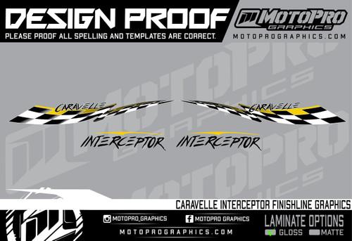 MotoPro Graphics Caravelle Interceptor Finishline Graphics - Yellow