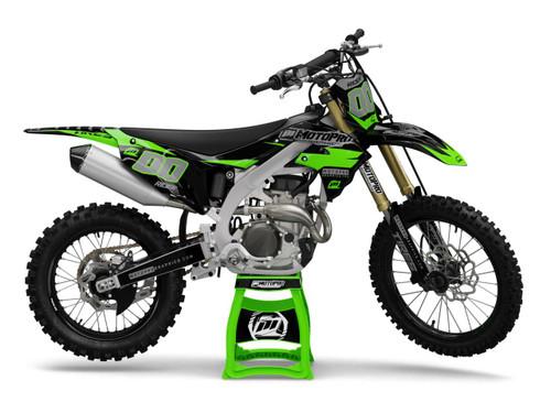 MotoPro Graphics Kawasaki Dirt Bike FLEX Series Graphics