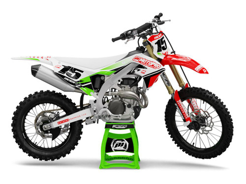 MotoPro Graphics Kawasaki Dirt Bike GAP Series Graphics