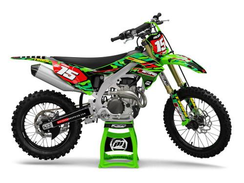 MotoPro Graphics Kawasaki Dirt Bike DISCOVER Series Graphics