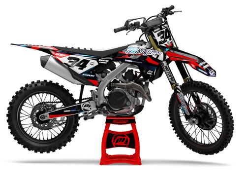 MotoPro Graphics Honda Dirt Bike RIBBON Series Graphics
