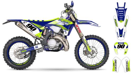 MotoPro Graphics Sherco Dirt Bike BELLA BLUE Series Graphics