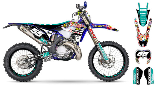 MotoPro Graphics Sherco Dirt Bike STICKERBOMB Series Graphics