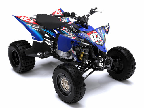 MotoPro Graphics Yamaha YFZ450 Quad ATV Full Graphics Set - ASTRO BLUE