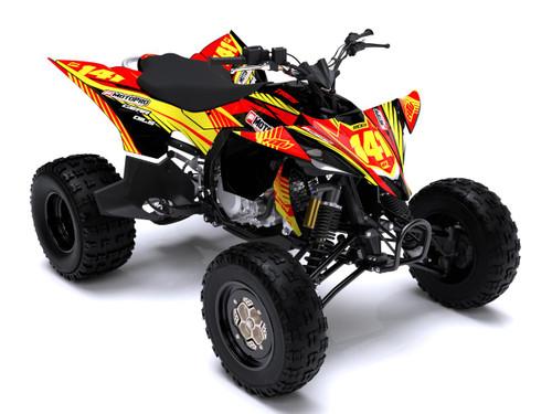MotoPro Graphics Yamaha YFZ450 Quad ATV Full Graphics Set - RED VIBER