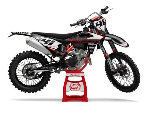 MotoPro Graphics GasGas Dirt Bike BLACK BULLET Series Graphics Set