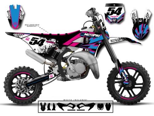 MotoPro Graphics Cobra Dirt Bike BLOCKER Graphics Set
