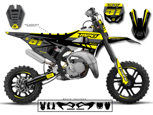 MotoPro Graphics Cobra Dirt Bike CONTURE Graphics Set