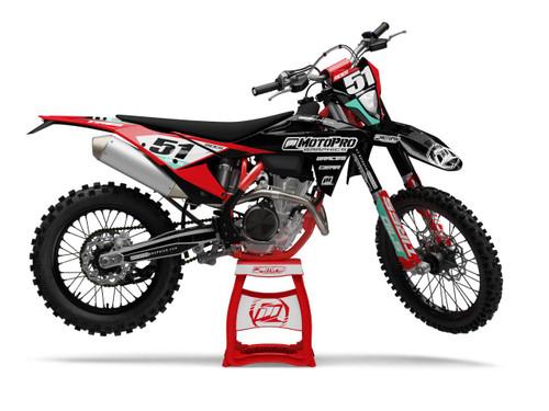 MotoPro Graphics GasGas Dirt Bike STALION Series Graphics Set