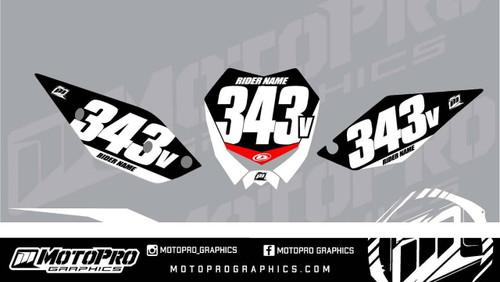 MotoPro Graphics Beta RR Enduro Dirt Bike Number Plates Background Set V1 - 2013 2014 2015 2016 2017