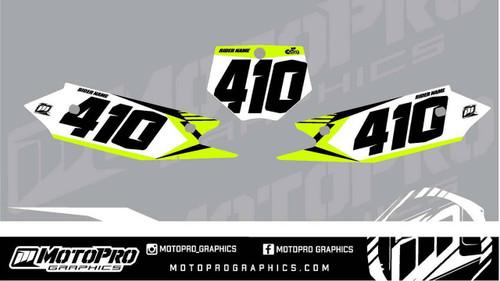 MotoPro Graphics Cobra SR and FWE Dirt Bike Number Plates Background Set V1 - 2021