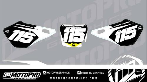 MotoPro Graphics Cobra SR and FWE Dirt Bike Number Plates Background Set V1 - 2010 2011 2012 2013 2014 2015 2016 2017 2018 2019 2020