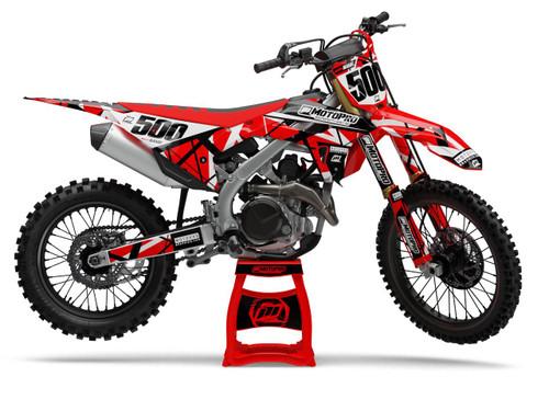 MotoPro Graphics Honda Dirt Bike ERUPTION Series Graphics