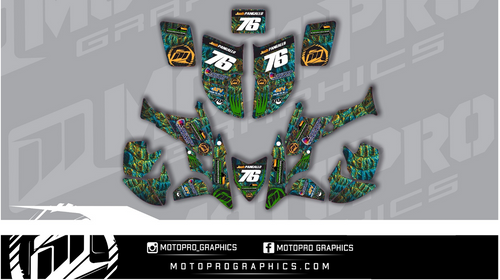 MotoPro Graphics Honda TRX450 Quad ATV Full Graphics Set - REPTILE
