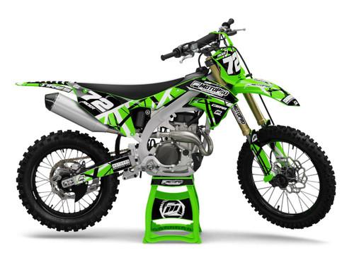 MotoPro Graphics Kawasaki Dirt Bike ERUPTION Series Graphics