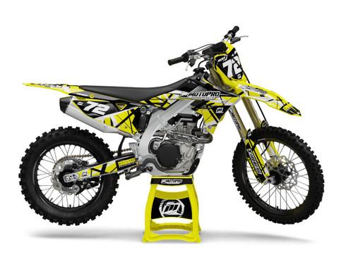 MotoPro Graphics Suzuki Dirt Bike ERUPTION Series Graphics