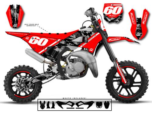 MotoPro Graphics Cobra Dirt Bike DOPER RED Graphics Set