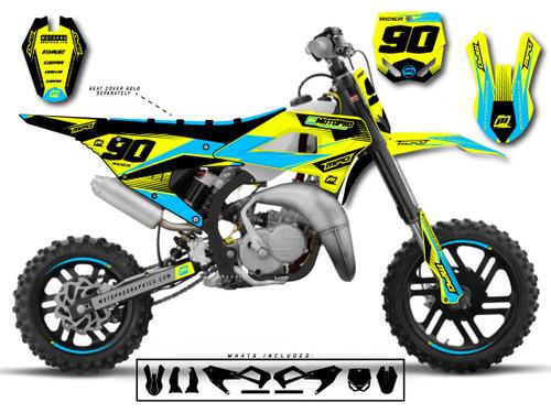 MotoPro Graphics Cobra Dirt Bike INTENSO BLUE Graphics Set