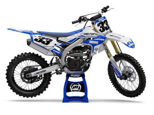 MotoPro Graphics Yamaha Dirt Bike TREK Blue Series Graphics