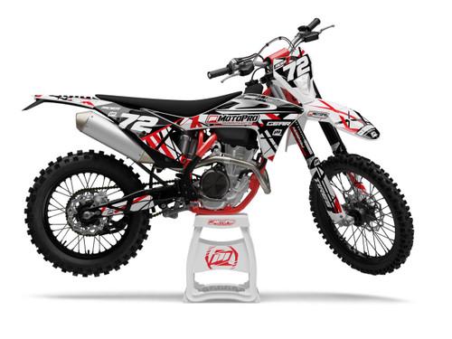 MotoPro Graphics GasGas Dirt Bike ERUPTION RED Graphics Set