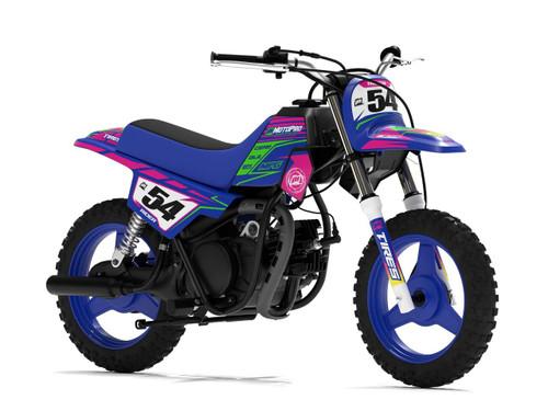 MotoPro Graphics Yamaha PW50 Factory Pink / Green Series Graphics
