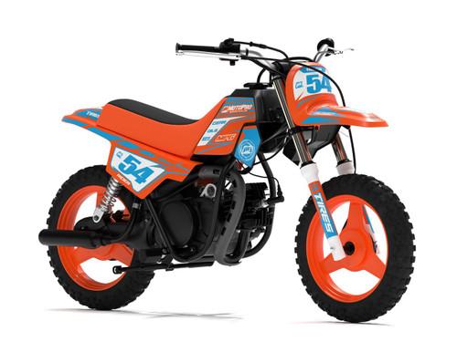 MotoPro Graphics Yamaha PW50 Factory Orange Series Graphics