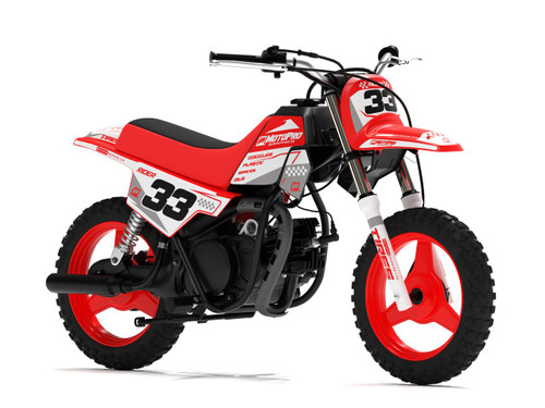 MotoPro Graphics Yamaha PW50 BOOST RED Series Graphics