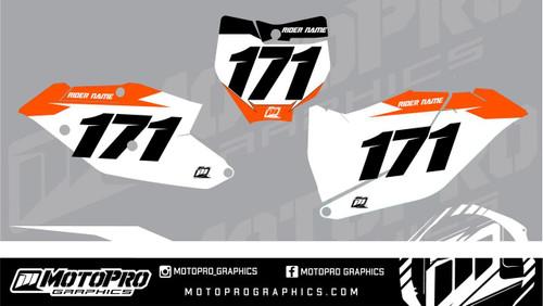 MotoPro Graphics KTM SX-F and SX Dirt Bike Number Plates Background Set V1 - 2016 2017 2018