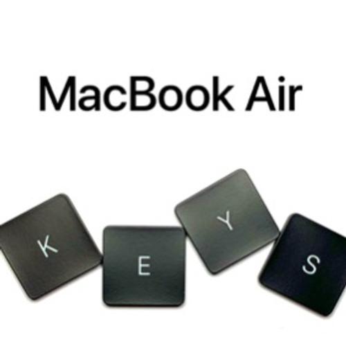 """Macbook AIR Replacement Laptop Keys 13"""""""