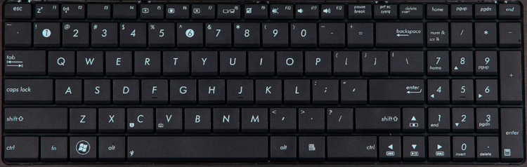 Asus A52J laptop keyboard key