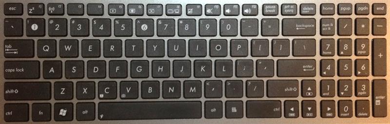 Asus U56EE Laptop Keyboard Key Replacement