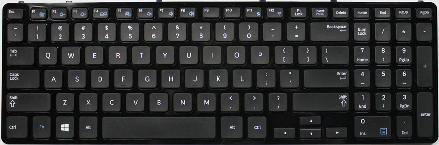 Samsung Series 5 15.4 Laptop Keyboard Key Replacement