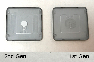 the 2nd gen butterfly key cap is taller