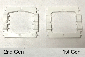 2nd gen butterfly hinge clip has longer pegs