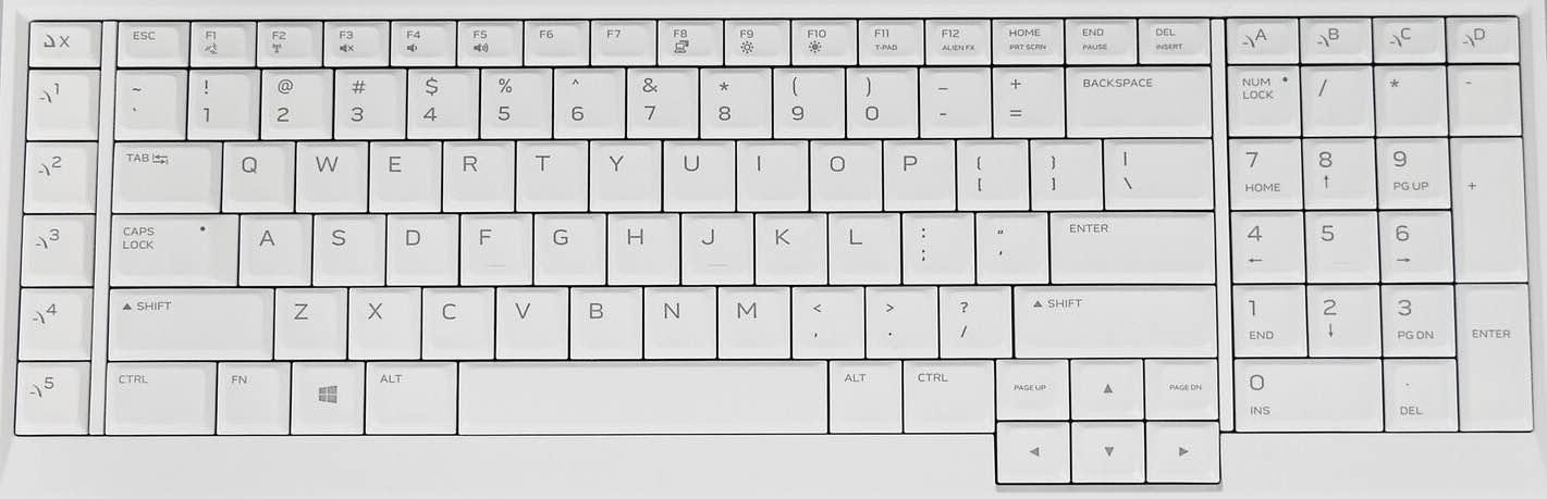 2019 Alienware 51M Keyboard Key Replacement