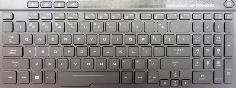 Asus Zephyrus GM501 Keyboard Key Replacement