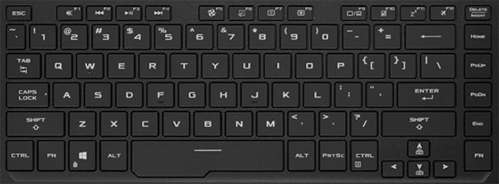 Asus ROG ZEPHYRUS GX502 Keyboard Key Replacement