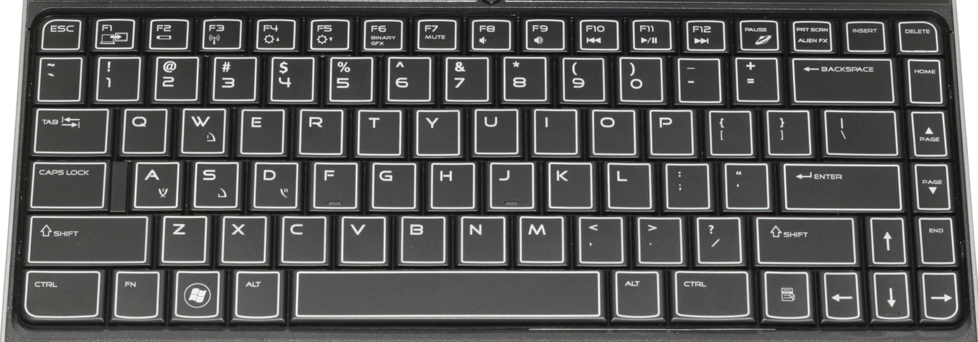 dell m11x laptop keyboard keys