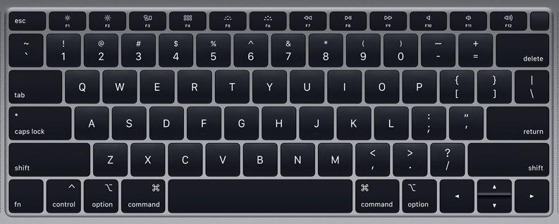 2018 - 2019 Macbook air keyboard key