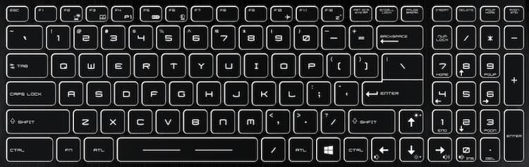 MSI GF72VR Laptop Keyboard Key Replacement