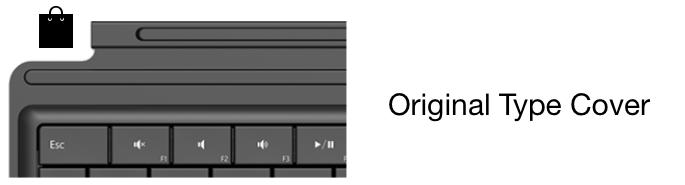 Microsoft Original Type Cover Keyboard Keys