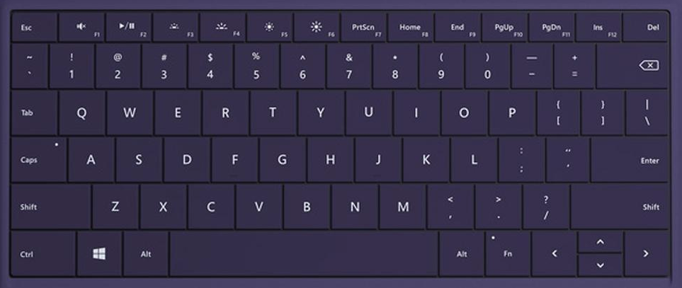 Purple surface 3 keyboard keys replacement