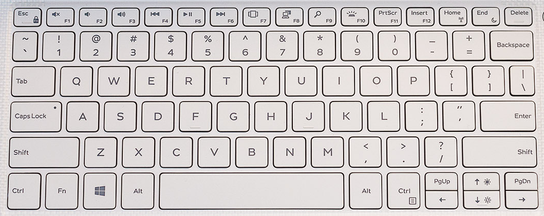 Dell XPS 13 9370 Replacement Keyboard Keys (White)