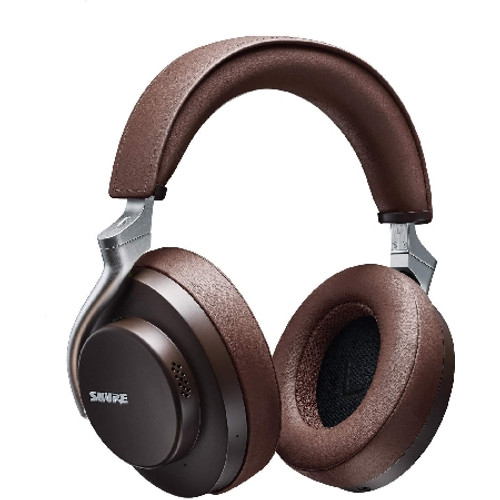 SHURE SBH2350BK AONIC 50 Wireless Noise Cancelling Over-Ear Headphones - Brown