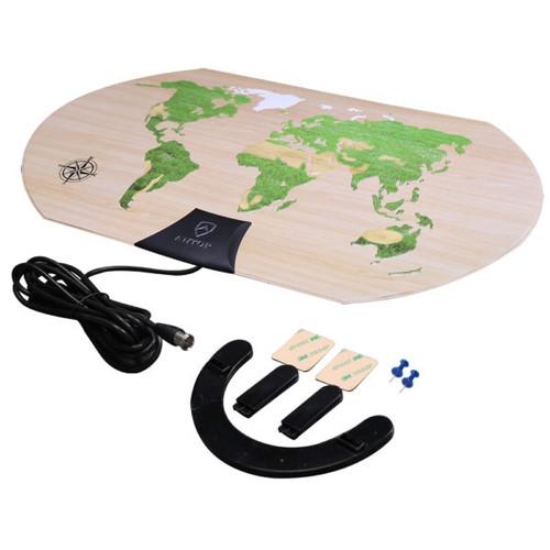 ANTOP AT123 World Map Paper Thin Indoor HDTV Antenna